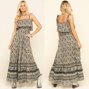 NWT Free People Tangier Babydoll Maxi Dress
